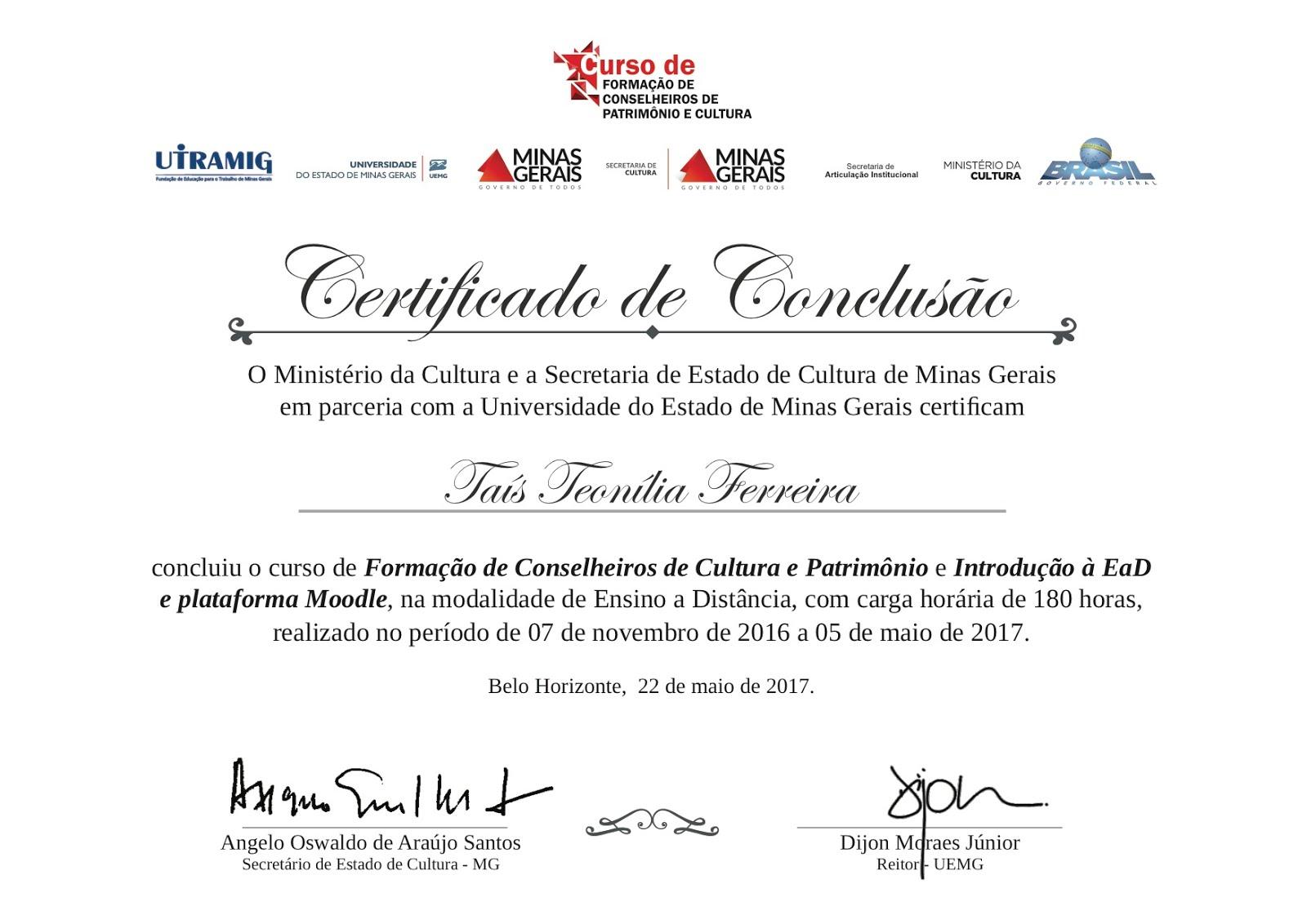 Curso de Formação de Conselheiros de Cultura e Patrimônio