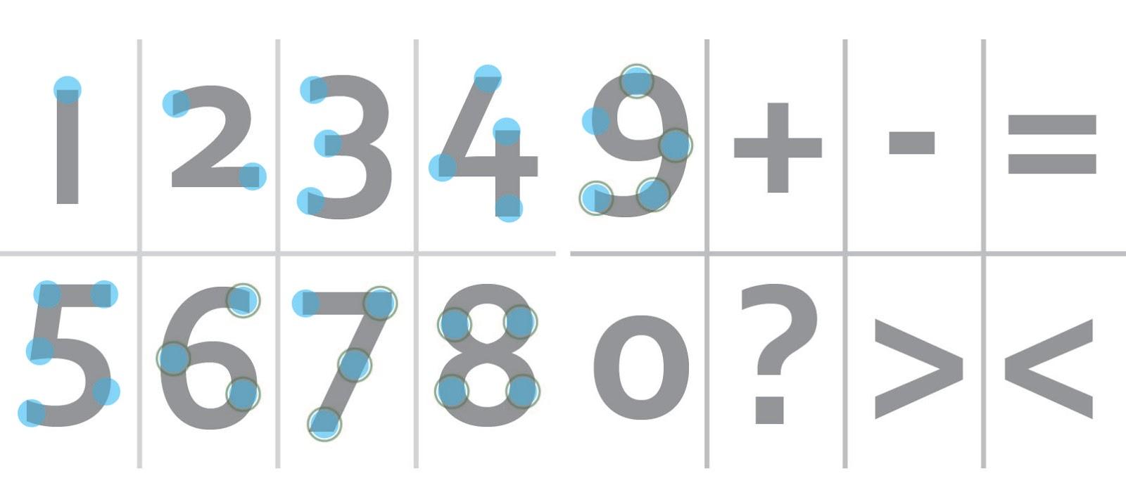 Touch math printable numbers dot math free printable
