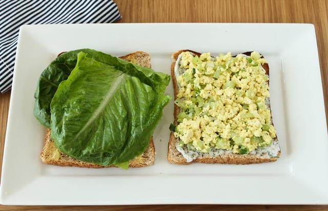 "Tofu ""no-egg"" Salad Sandwich"