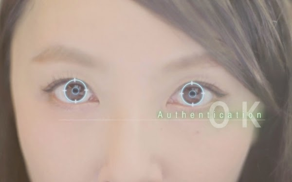 The smartphone with ocular recognition in Japan is really