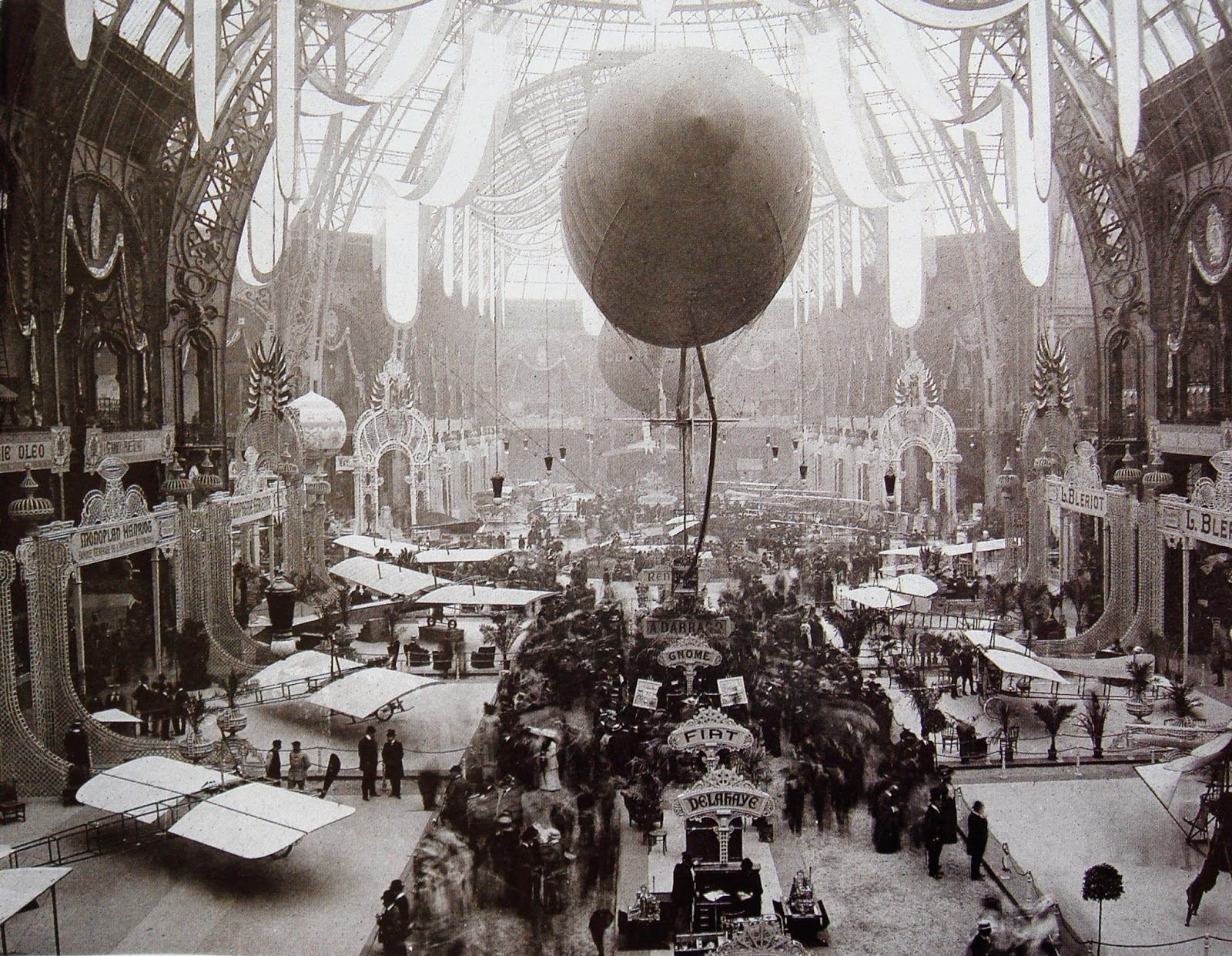Louis Bleriot, avaiator, Grand Palais