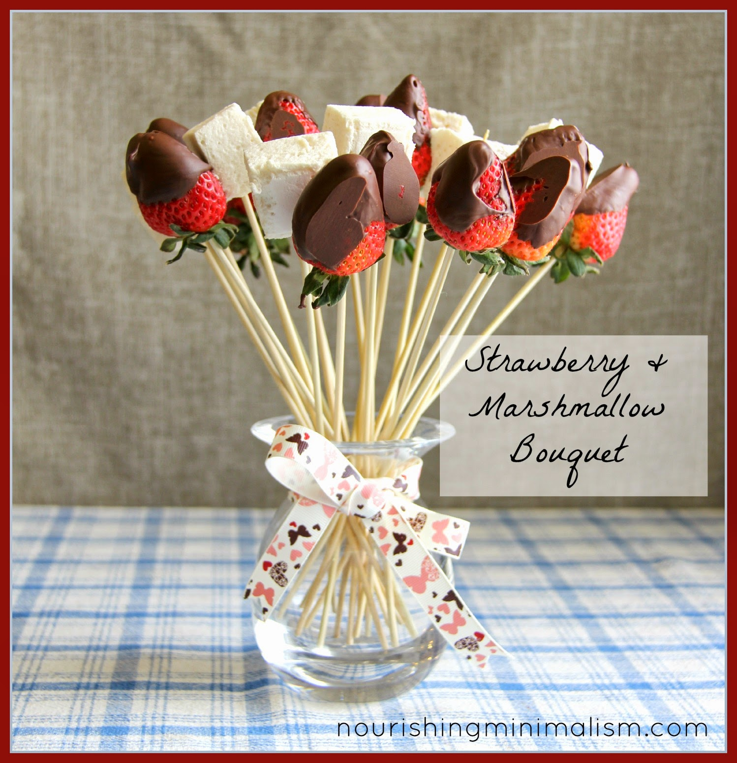 Chocolate Covered Strawberry And Marshmallow Bouquet