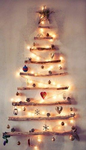 navidad arbol rustico