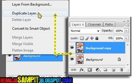 Cara Membuat Background Foto/Gambar Menjadi Transparan