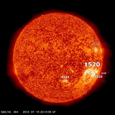 MANCHAS SOLARES 1520, 15 DE JULIO 2012