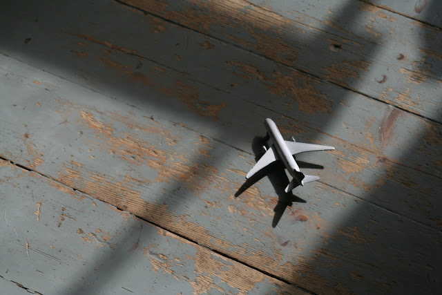 Anton's plane on the floor