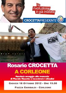 Giovedì 18 ottobre, alle ore 19.00, l'on. Rosario Crocetta a Corleone