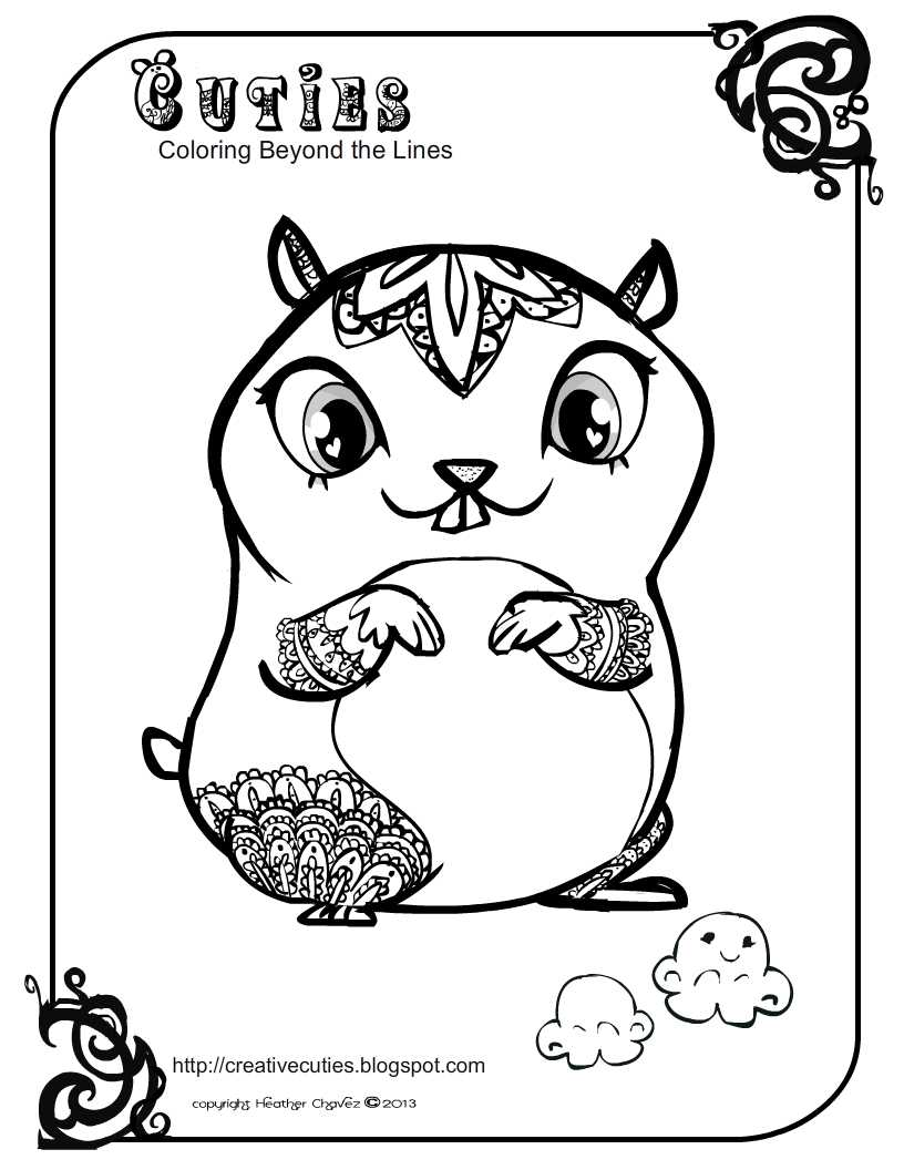 add caption - Cuties Coloring Pages