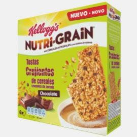 Nutri-Grain de Kellogg's tostas crujientes de cereales chocolate