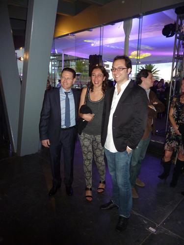 Bernardita Hoces de MASISA con el diseñador Emiliano Godoy