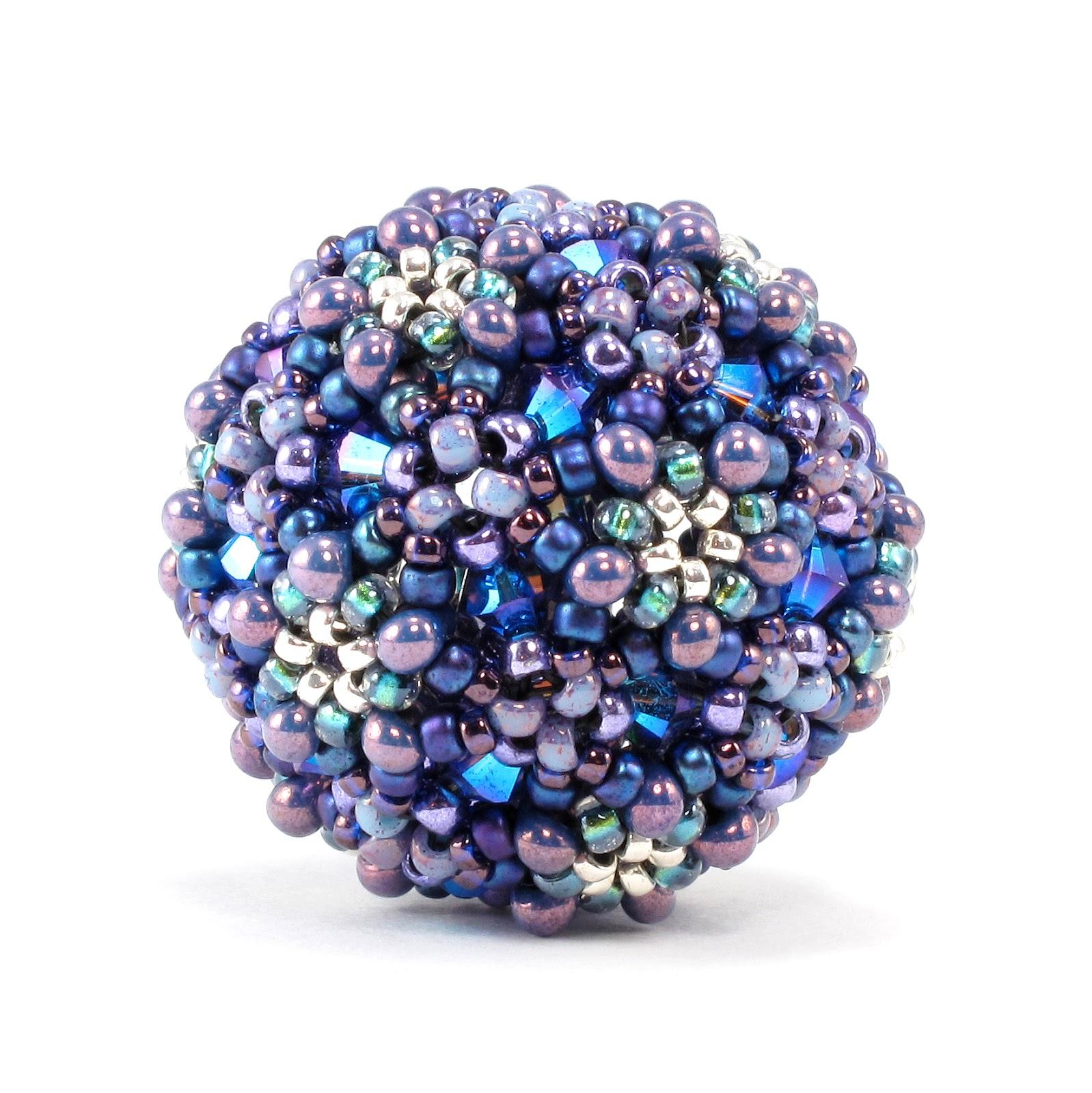 Crystal Bead Beads: Bead Origami: New Pattern And Kits: Crystal Ball Beaded Bead