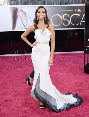 zoe saldana 2013 Academy Awards