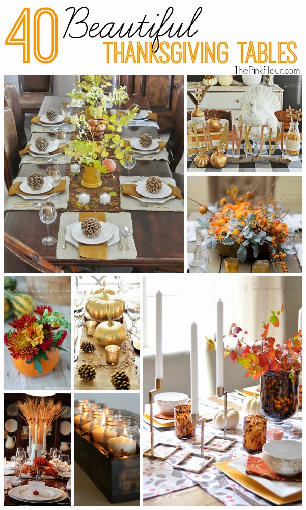 40 Beautiful Thanksgiving Tables & Centerpieces - lots of great ideas for your holiday table from www.thepinkflour.com #thanksgiving #table #centerpiece