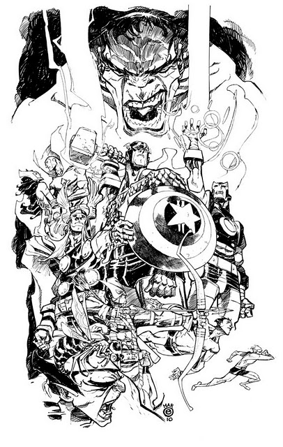 Eric Canete: Egg Sketchbook - Avengers Sketch - 365 Days of Comics