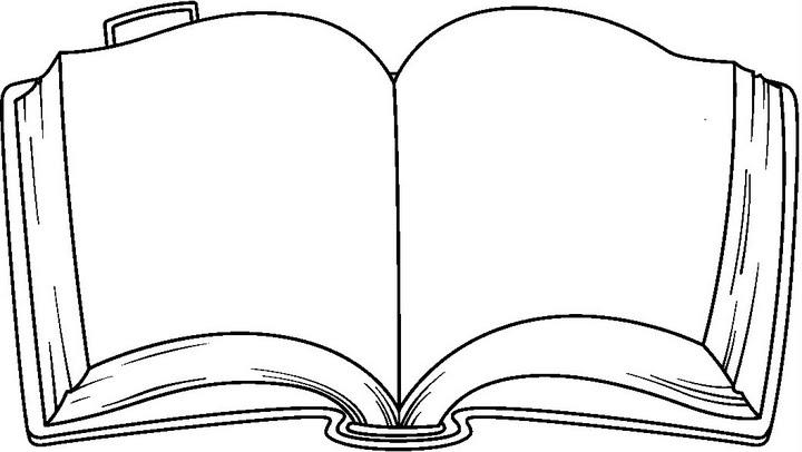 Silueta de libro para colorear  Imagui