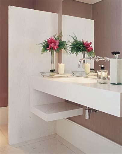 decoracao lavabo branco:DecorandoShow: Lavabos – pequenos mas esbeltos