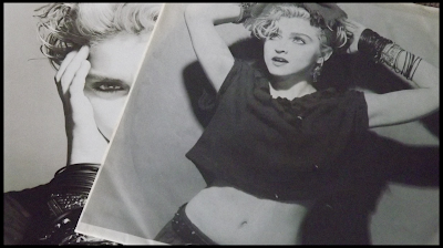 Madonna LP cover with inner sleeve