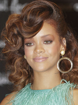 Rihanna Gold Hoop Earrings