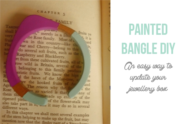 painted bangle how to | Randomly Happy