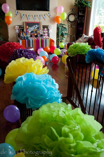 postres globos utencilios recuerdos muecos qu te parecen estas ideas para las fiestas de cumpleaos infantiles de willy wonka