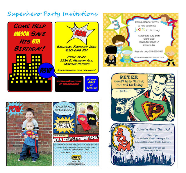 ... Childrens Party Ideas Superhero Party   Party Invitations Ideas