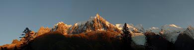 la chaîne du mont mont blanc
