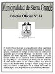 BOLETÍN OFICIAL Nº33