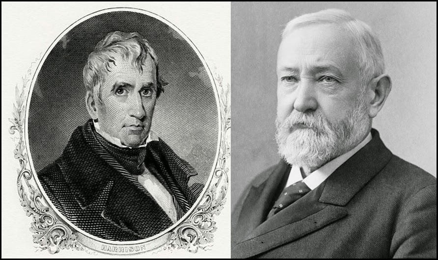 US Presidents William Harrison & Benjamin Harrison