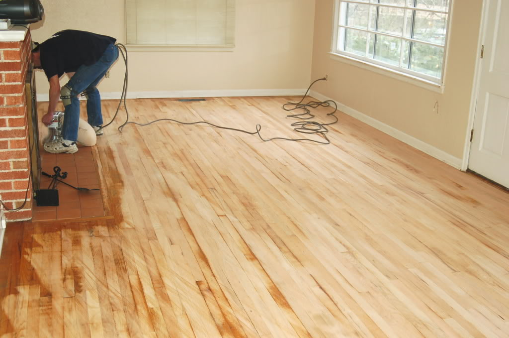 Should i refinish my own hardwood floors for Hardwood floor refinishing