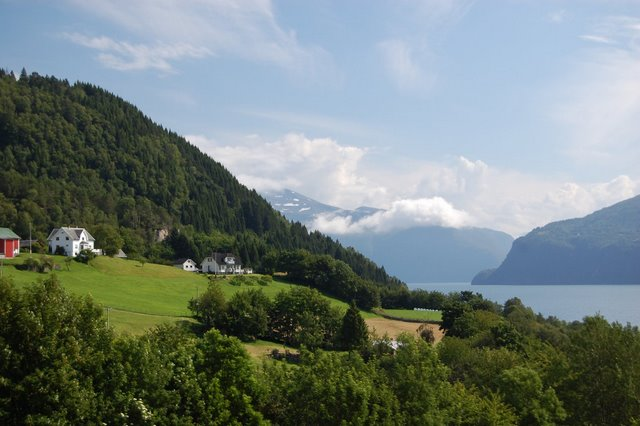 Idyllic view of Romsdalsfjord