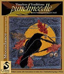 """Moondance Punchneedle 6"""" x 6"""""""