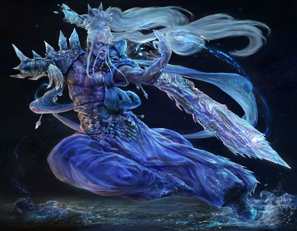 Kuang Hong illustrations fantasy dark grim The spirit of sword