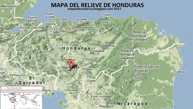 HONDURAS America  MAPAS DE