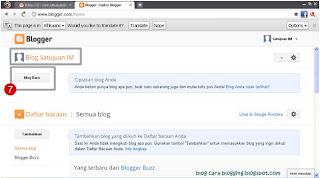 Klik Tombol Buat Blog Baru pada bagian kiri.