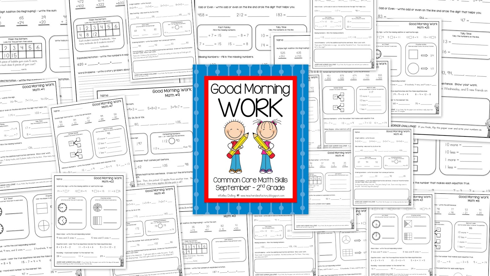 2ND GRADE MORNING WORK FOR SEPTEMBER + FREEBIE - Teacher Idea Factory