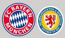 مشاهدة مباراة بايرن ميونيخ واينتراخت براونشفيغ اليوم 19-4-2014 بث مباشر الدوري الألماني