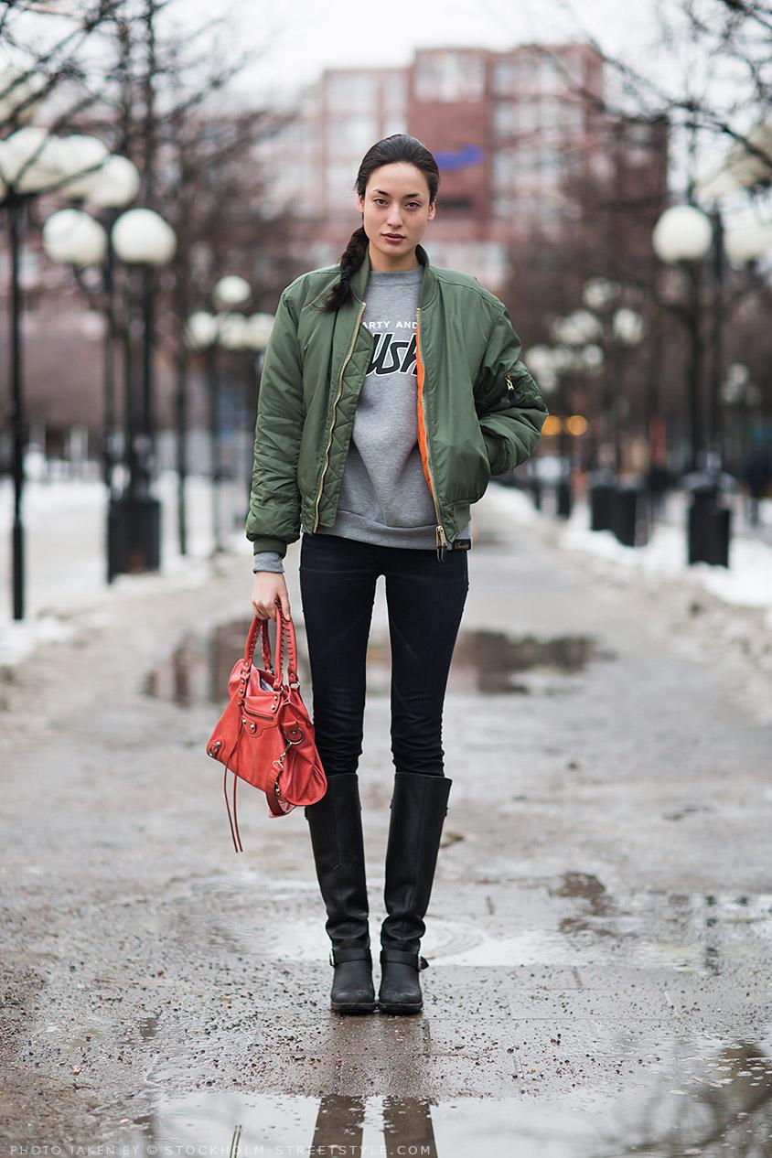 MY FASHION TRICKS: Street style: fashion week - &quotflight jackets&quot