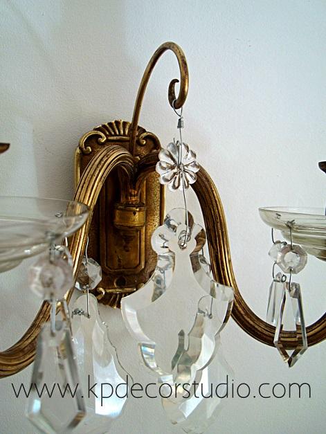 Apliques antiguos, clásicos, chandelier, lágrimas, tienda vintage en valencia