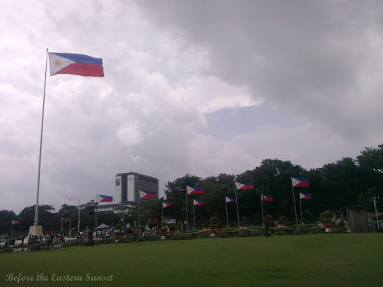 Philippine flags at Luneta Park