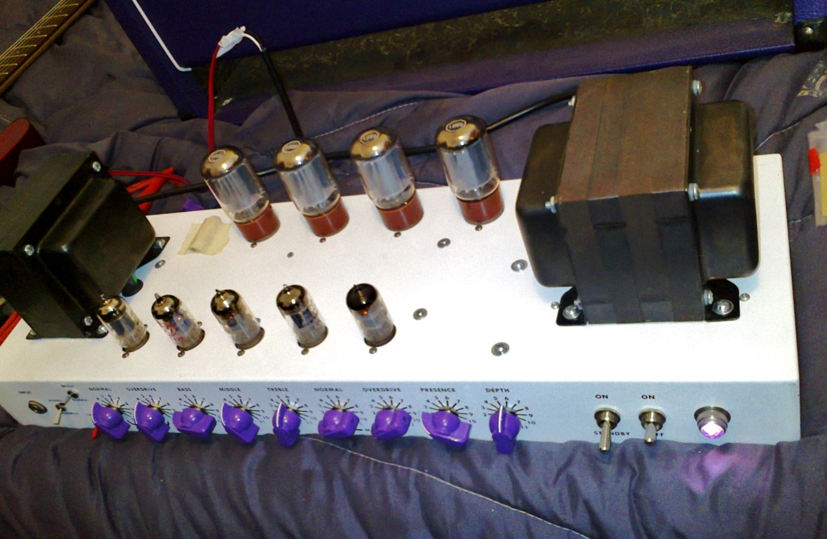 This nice SLO 100 tube amp head was hand built by Brit Tone amplifiers UK.  It's a Soldano SLO 100 replica made using high quality components.