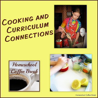 Cooking and Curriculum Connections on Homeschool Coffee Break @ kympossibleblog.blogspot.com - getting big kids into the kitchen for more than just raiding the cupboards has been a challenge since we have picky eaters and a general lack of enthusiasm for cooking. Here's some ideas that are working!