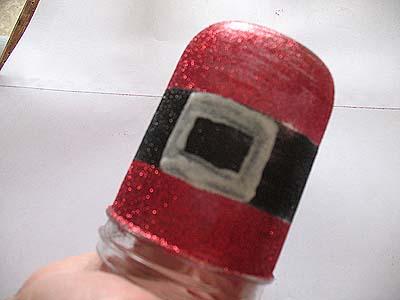 como hacer frascos navideños