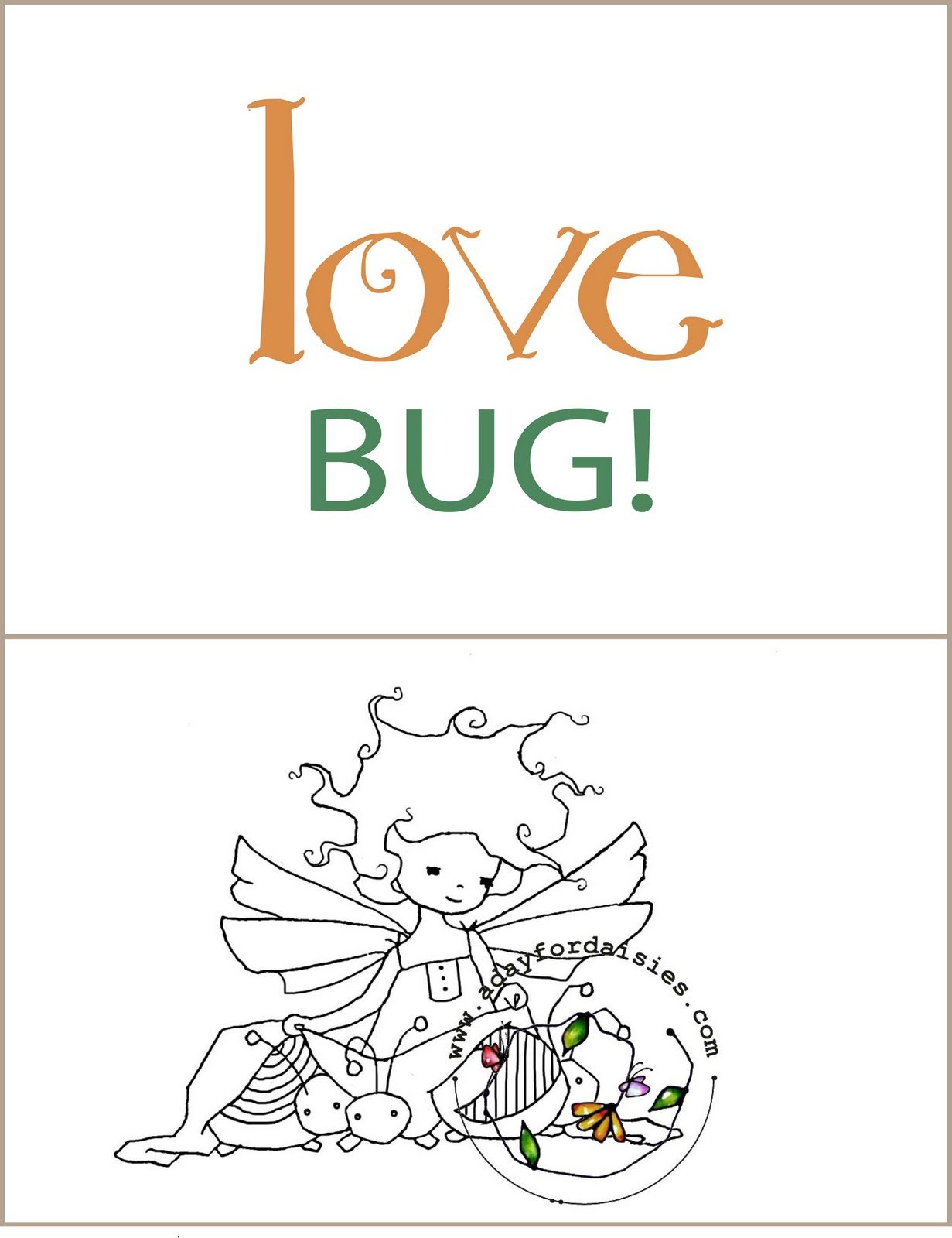 Good Morning Love Bug : A day for daisies new release quot bug love