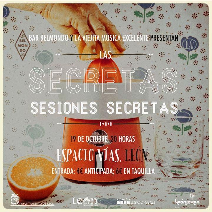 Secretas Sesiones Secretas. Cartel de Pedro García.