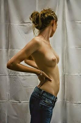 Mujeres Desnudas del Torso Pintadas Al Oleo