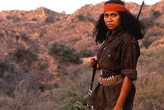 Seema Biswas as Phoolan Devi, Bandit Queen, Directed by Shekhar Kapur