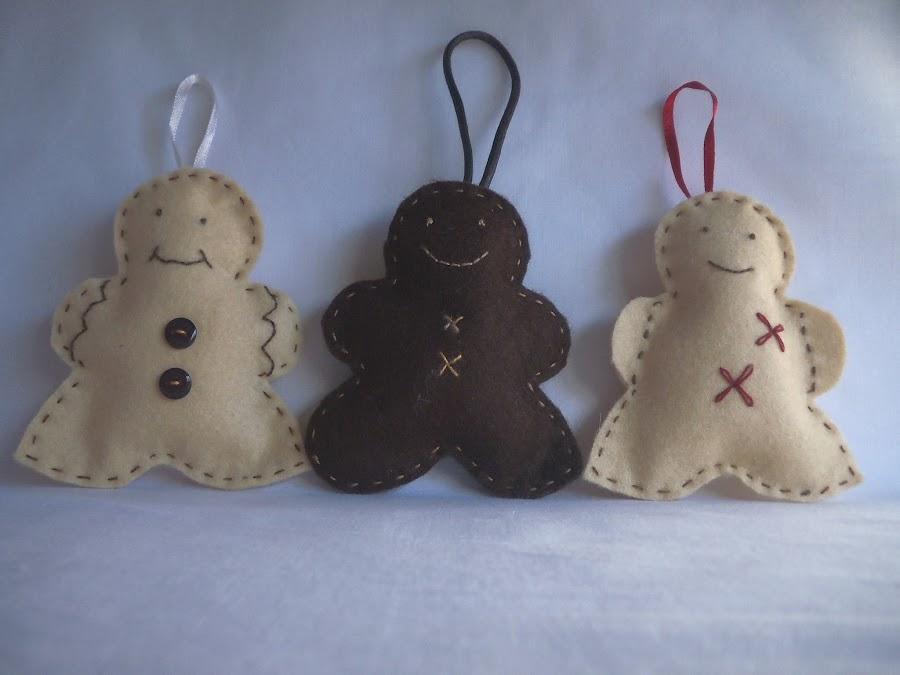 Costura: Preparando la Navidad con muñecos de fieltro