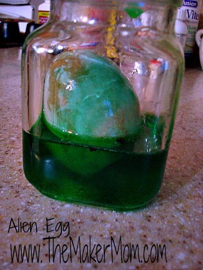 Alien Egg for  Halloween or Easter from The Maker Mom
