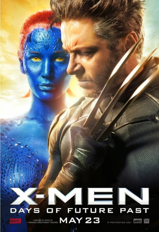 Jennifer Lawrence as Mystique as Hugh Jackman as Wolverine