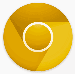 Google Chrome Golden Icon